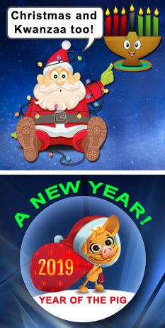 Christmas, Kwanzaa & NY's too!